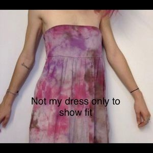 Lucky Brand Tie Dye Dress/Skirt Size M Made in USA